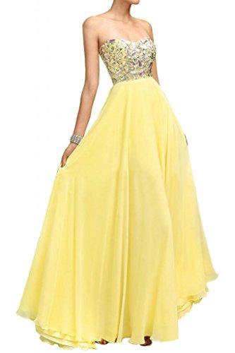 Con estilo de la gasa de la novia en forma de corazón de cristal de Toscana vestidos de fiesta de fútbol por la noche vestidos de Prom duro de largo
