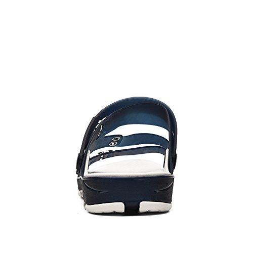 Moda Snadals de de para de Plano Zapatillas Plano Tacón Zapato Verano en Ocasionales Blue Hombre IUYqX