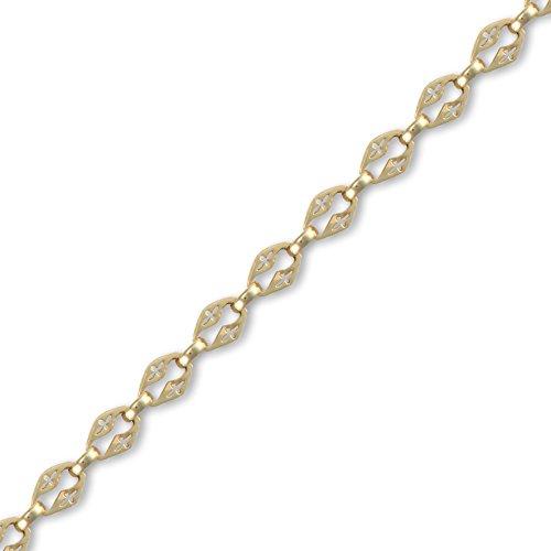 Jewelco Londres 9K fantaisie collier en or de la chaîne 8mm