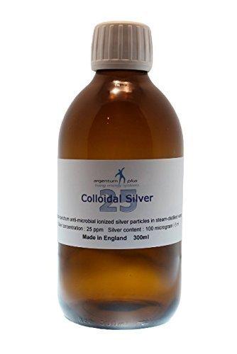 argentum plus - Plata Coloidal 25 ppm - 300 ml - líquido amarillo claro con tapa