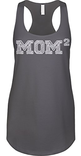 Blittzen Womens Tank Mom of 2 - Squared - To The Second Power, XL, - Squared 60
