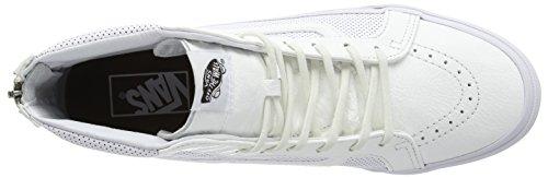 Vans U SK8-HI SLIM ZIP SCOTCHGARD - Zapatillas de otra piel para hombre Perf Leather true white