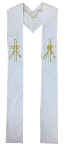 Priest Baptism and Wedding Stole with All Gold Embroidery - Reversible