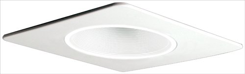 "Deep Trim Baffle (Elco Lighting EL2994W 4"" Square Trim with Deep Phenolic Baffle and Metal Ring - EL2994)"