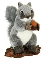 Plush Acorn (Plush Gray Squirrel with Acorn 9