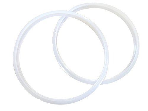 Instacrock 2-Pack of Compatible Pressure Cooker Sealing Rings, Replacement for Instant Pot and Crock Pot Express Compatible Sealing Ring Gaskets, Clear