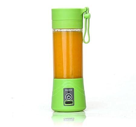 Fengge Licuadora eléctrica portátil para zumo, color verde: Amazon ...