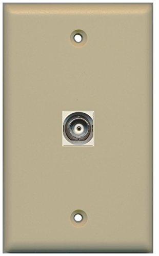 RiteAV BNC Video Wall Plate with Keystone Coupler Type Jack - 1 Port - Ivory