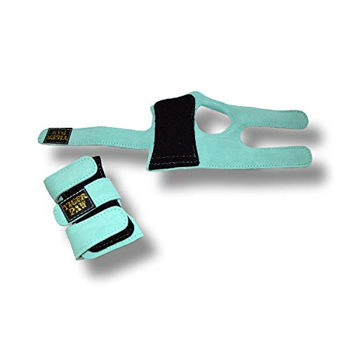 US Glove Tiger Paws Gymnastics Aqua Wrist Wraps | Adjustable Wrist Support | Wrist Injury Prevention - Extra Small