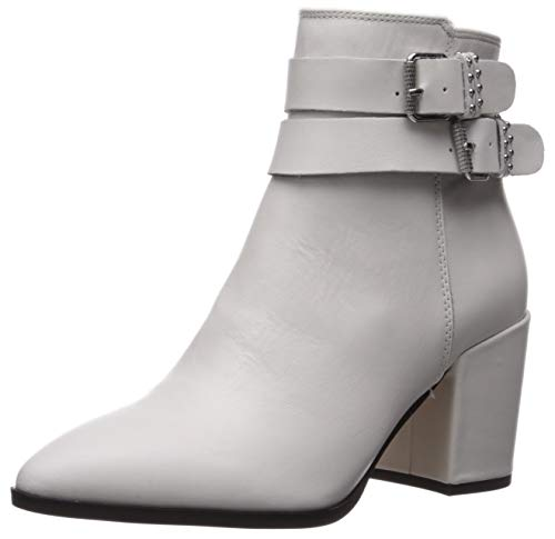 STEVEN by Steve Madden Women's PEARLE Fashion Boot, White Leather, 7.5 M US