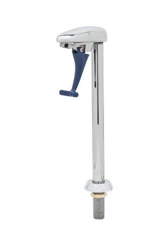 T&S Brass B-1210-01 Glass Filler, 10-Inch Deck Mount Pedestal, 1/2-Inch Npt Male Shank (Polished Stainless Chrome Steel Pedestal)
