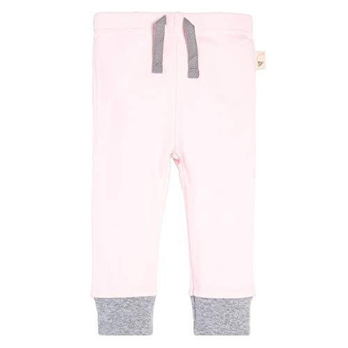 (Burt's Bees Baby Sweatpants, Knit Jogger Pants, 100% Organic Cotton, Blossom/Grey Cuff 24 Months )