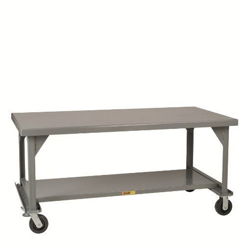 - Little Giant WW-3048-6PHFL Welded Steel Mobile Workbench with Casters and Floor Lock, Gray, 3600 lbs Load Capacity, 34