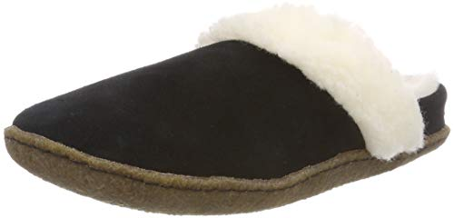 Cable Mens Boots - Sorel - Women's Nakiska Slide II House Slippers with Suede and Faux Fur Lining, Black/Natural, 10 M US