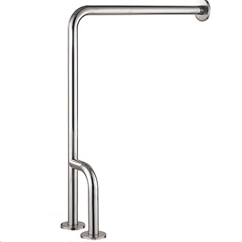 - Grab Bar Bathroom Frosted Surface Handrails 304 Stainless Steel Floor Bathroom Safety Rails Barrier-Free H-Shaped Guardrail (Left and Right Models)