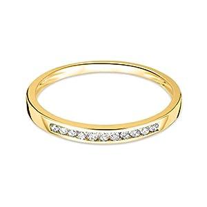 Orovi anillo de mujer compromiso/aniversario 0.10 Quilates diamantes en oro amarillo 9 kilates ley 375 Orovi anillo de mujer compromiso/aniversario 0.10 Quilates diamantes en oro amarillo 9 kilates ley 375 Orovi anillo de mujer compromiso/aniversario 0.10 Quilates diamantes en oro amarillo 9 kilates ley 375