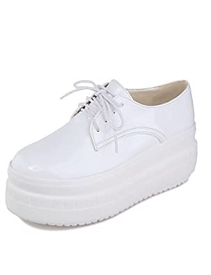 IOLKO - Zapatillas de bádminton para niña white-us5 / eu35 / uk3 / cn34