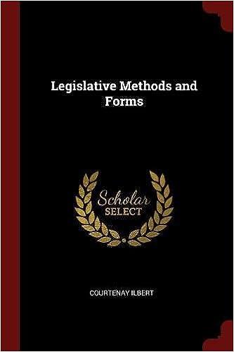 Legislative Methods and Forms