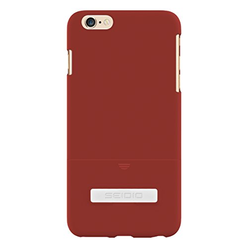 Seidio Innocase Surface Case - Seidio Surface Case with Metal Kickstand for iPhone 6 Plus - Retail Packaging - Garnet Red