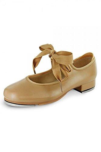 Bloch Dance Girls' Annie Tyette Dance Shoe, Brown Tan, 10 Medium US (Maud Bows)