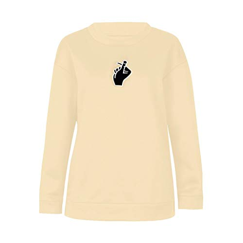 2019 Fashion Love Printed Women Long Caqui Sleeve T Blouse Jutoo shirt Finger Sweatshirt Tops dUAwd
