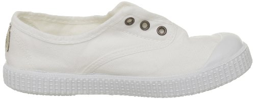 Victoria - Zapatillas de casa de tela para niños Blanco (Blanc (Blanco))