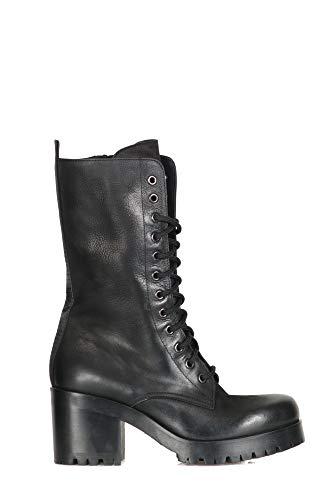 P2385 Strategia Black Women Ankle Boston Nero Boots rpnqtpRxwA