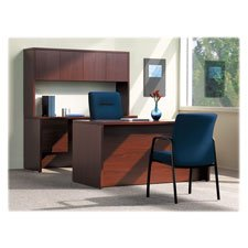 HON 105899NN 10500 Bow Front Double Pedestal Desk, Full-Height Pedestals, 72w x 36d, Mahogany