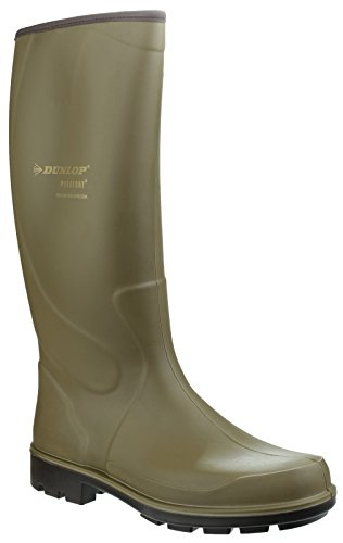 Dunlop Dunlop Mens Puro Terroir Waterproof Insulated Welly Wellington Boots Green Rubber UK Size 12 (EU - 47 Uk Size