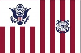 (U.S. Coast Guard USCG Ensign Valley Forge Indoor Outdoor Dyed Nylon G-Spec (Size 4) Flag Brass Grommets 30