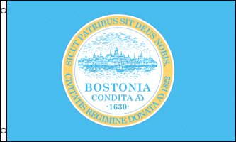 Boston City 3x5 ft Polyester flag