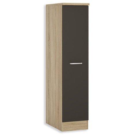 roller apothekerschrank fox anthrazit sonoma eiche 30 cm breit k chenausstattung. Black Bedroom Furniture Sets. Home Design Ideas