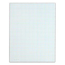 Tops Quadrille Pad, 8.5 X 11 Inches, 15 Pound Stock, 50 Sheets Per Pad, 6 Pads Per Pack, White (99522) 0