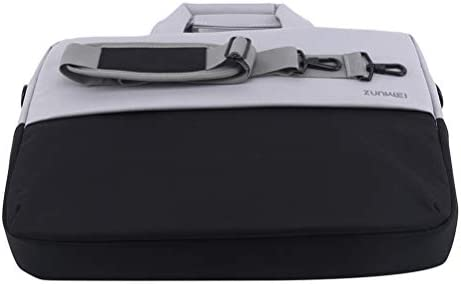 Flybloom ポータブルレディースメンズブリーフケースラップトップショルダーバッグシンスーパー多機能ハンドバッグビジネストラベルトートバッグ(ブラウン)