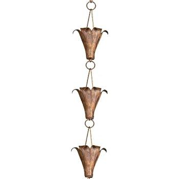 Monarch Pure Copper Royale Rain Chain, 8-1/2-Feet Length