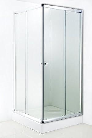 Mampara de ducha bajo de compra de cada uno de los lados y vidrio templado: Amazon.es: Hogar