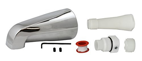 Keeney Manufacturing PP825-33 Plumb Pak Universal Fit Bath Tub Spout Without Diverter, Chrome Plated, Polished Finish