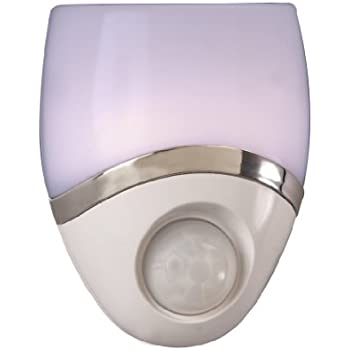 Amertac - Westek 73092CC LED Night Light, Motion Sensor, White/Nickel (pack of 2)