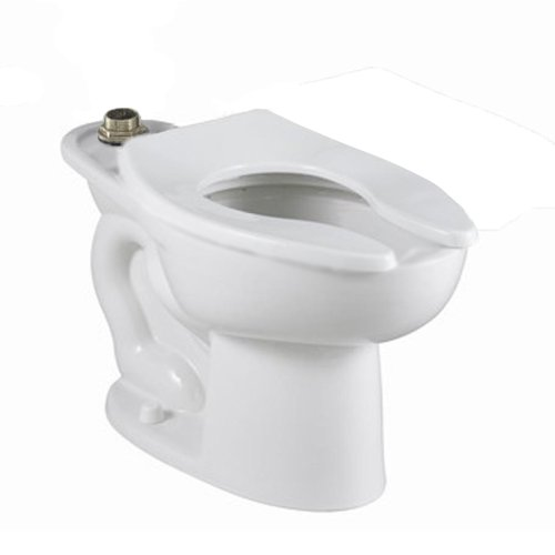 - American Standard 3452.001.020 Madera 15-Inch Elongated Universal Floor Mount Top Spud Toilet Bowl with Everclean and Slotted Rim, White