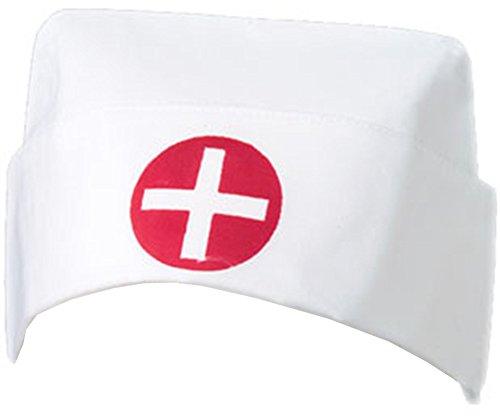 White Cotton Costume Nurse Hat Red Cross Uniform (Red Cross Nurse Costumes)
