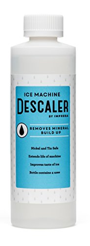 Whirlpool Ice Maker Cleaner (Impresa Products Ice Machine Cleaner/Descaler - 4 Uses Per Bottle - Made in USA - Works on Scotsman, Manitowoc and Virtually All Other Brands (Ice Maker Cleaner/Icemaker Cleaner))