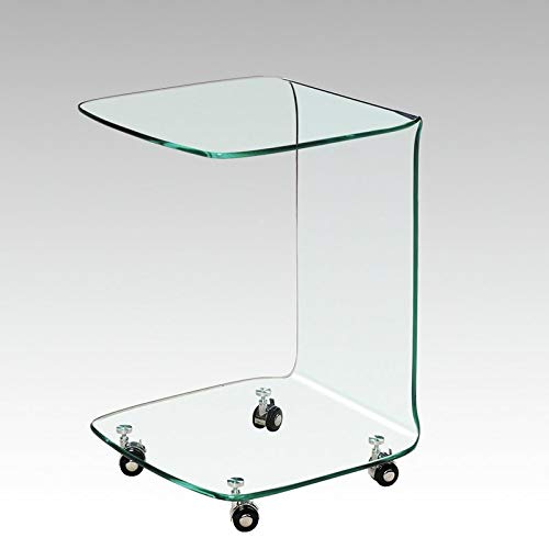 Glass End Table - End Table with Wheels - Set of 2 for sale  Delivered anywhere in USA