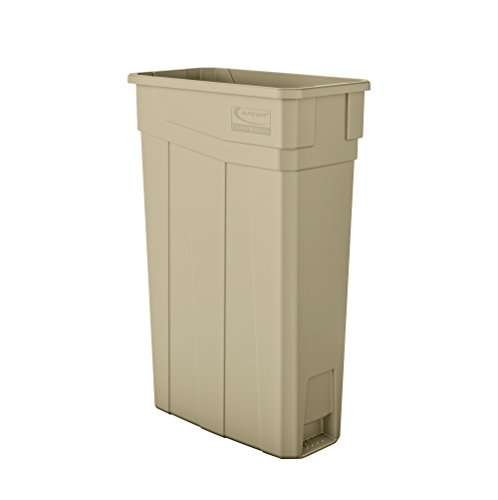 Suncast Commercial TCN2030S Narrow Trash Can Without Handles