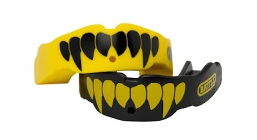 Battle Fang Mouth Guard (2-Pack), Neon Yellow/Black, Adult
