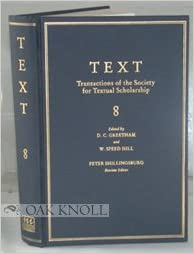 TEXT, TRANSACTIONS OF THE SOCIETY FOR TEXTUAL