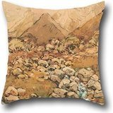 18 X 18 Inches / 45 By 45 Cm Oil Painting Margaret Stoddart - View Of Mount Cook Throw Pillow Case,each Side Is Fit For Him,bedding,living Room,birthday,car Seat,home
