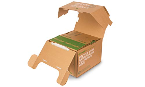 (Set of 2 Large Battery & Cellphone Recycling Boxes)
