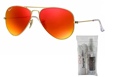 brown Ray Aviator Sunglasses Metal Gold Mirror Ban Matte Red Polarized Large Rb3025 gqw8fg4