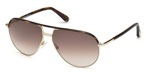 Tom Ford M-SG-2003 FT0285 Cole 52K-Rose Gold-Dark Havana Mens Sunglasses, 61-13-135 mm