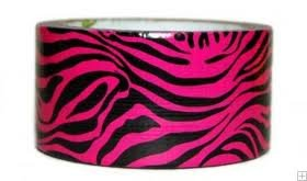 "Pink Zebra Printed Duct Tape 1.89"" x 10'"